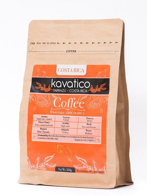 Café molido marca Kavatico, variedad Catuaí. Presentación de 250 g