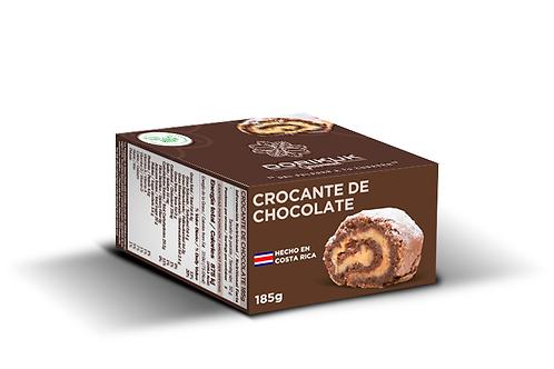 Crocante de chocolate, personal. Peso: 185 g. Largo: 6 cm. Porciones: 3