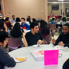 Students support one another and listen to each other's thoughts and feelings at Reflect events.