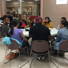 Students at Reflect events support each other.