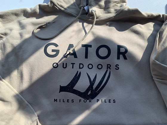 Gator Shed Hunting Hoodie - Miles for Piles