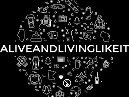 Alive And Living Like It tee design
