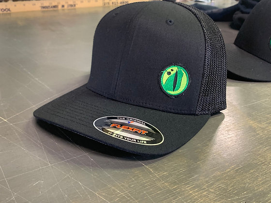 Gator Eye Hat - Black Flexfit