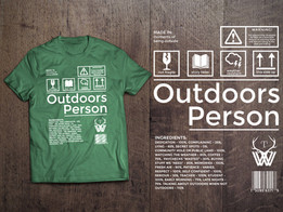 Outdoors Person Tee