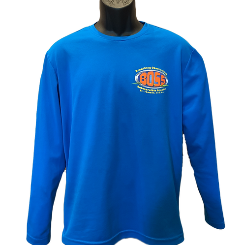 Blue Dry-Fit Long Sleeve Shirt