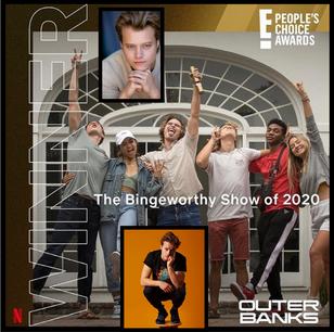"OUTERBANKS WINS ""E! Binge Bingeworthy Show of 2020""!"