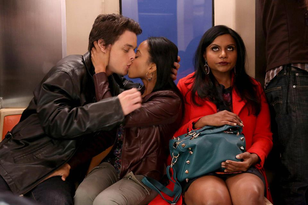 Chad Addison on the set of The Mindy Project!