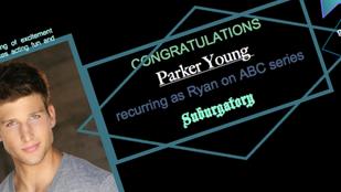 Parker Young books Suburgatory!