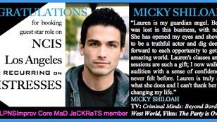 Micky booked a guest star role! Werk!