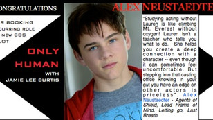 Congrats to ALEX NEUSTAEDTER for booking Pilot with JAMIE LEE CURTIS!