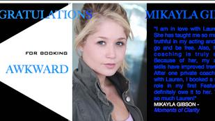 Mikayla Gibson books Awkward! Way to go!