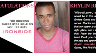 Congrats KHYLIN on booking IRONSIDE!