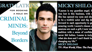 We are BEYOND thrilled for Micky booking a role on the Criminal Minds Spinoff!