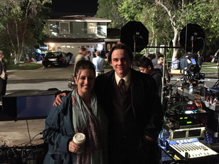 Lauren visiting Alex Neustaedter on the set of his film.