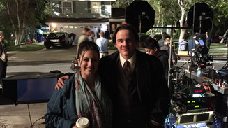 Lauren visiting Alex Neustaedter on the set of his film.