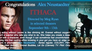 Ithaca w/ Alex and Meg Ryan in theaters this weekend!!