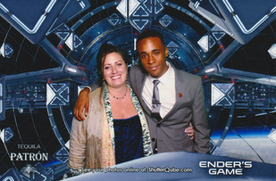 Lauren, Aramis Knight and Khylin Rhambo at the Ender's Game premiere