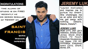 Congratulations to Jeremy Luke for booking series regular on Saint Francis!