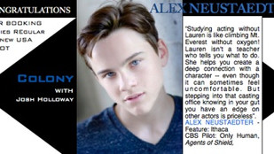 Congrats ALEX NEUSTAEDTER for booking COLONY with Josh Holloway!