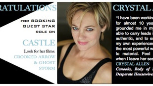 Congratulations CRYSTAL ALLEN for booking guest star on CASTLE!