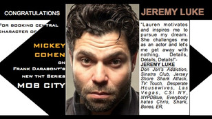 JEREMY LUKE books the coveted role of MICKEY COHEN on MOB CITY!