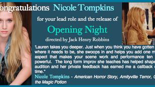 It's your NIGHT, Nicole!