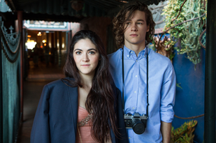 Kyle Allen and Isabelle Fuhrman on set of 'One Night'
