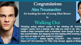 Another booking for Alex! Congrats!