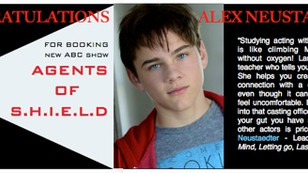 Congrats ALEX NEUSTAEDTER for booking AGENTS OF S.H.I.E.L.D!