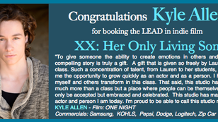 Again, Kyle booked a film!
