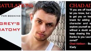 Chad Addison books GREY'S ANATOMY!!