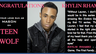 Sad to see Teen Wolf leave, but proud of you, Khylin!