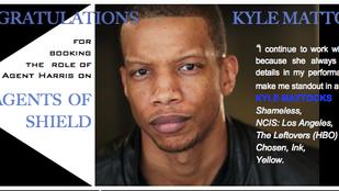 "Kyle Mattocks on ""Agents of Shield""!"
