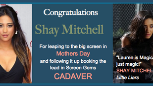Movie out in theaters, and another one booked! Congrats, Shay!