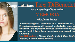 I'm sure Lexi will always REMEMBER working with James Franco!