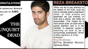 Congratulations to Reza Breakstone for booking new ABC pilot The Unquiet Dead!