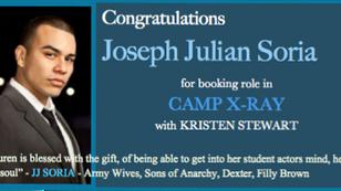 JULIAN SORIA books CAMP X-RAY with Kristen Stewart!