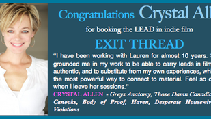 Another awesome indie booking, get it Crystal Allen!