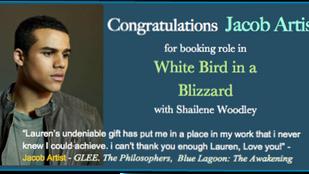 JACOB ARTIST books WHITE BIRD IN A BLIZZARD with Shailene Woodley!