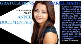 Congratulations to Mariel Martinez for booking Annie Undocumented Pilot!