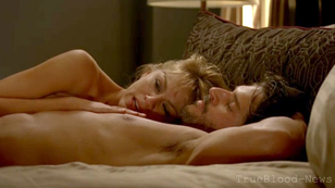 Some steamy on set pictures of Joe Manganiello and Brit Morgan on True Blood