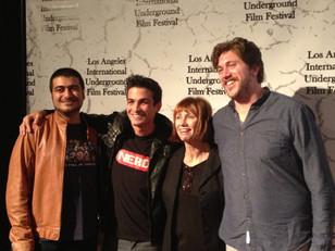 LPN Studio Student, Micky Shiloah, at Los Angles International Underground Film Festival for The Par