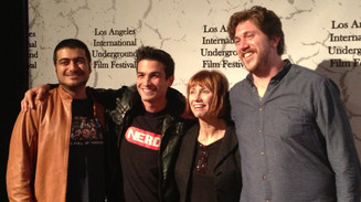 LPN Studio Student, Micky Shiloah, at Los Angles International Underground Film Festival for The Par