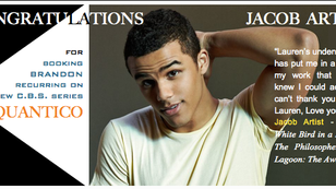 Congratulations to Jacob Artist for booking recurring role on Quantico!