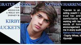 Congrats to Nathan for booking Disney!