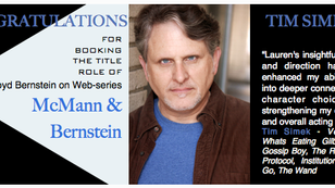 Tim booked the title role!