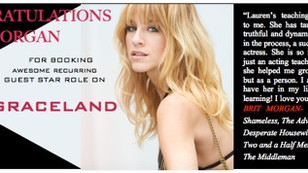 Congratulations to Brit Morgan on booking a guest star on Graceland!