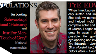 No need to split hairs, Tye booked TWO commercials!