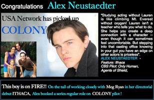 Alex's pilot got picked up! Awesome!
