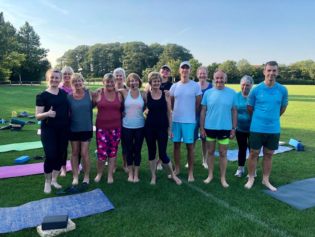 Willen pavilion yoga class - taking adva